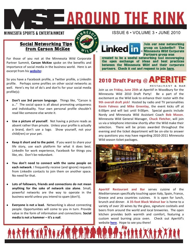 ISSUE 6 • VOLUME 3 • JUNE 2010           Social Networking Tips                                                           ...