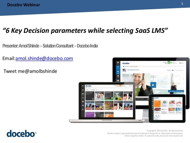 6 key decision parameters while selecting SaaS LMS