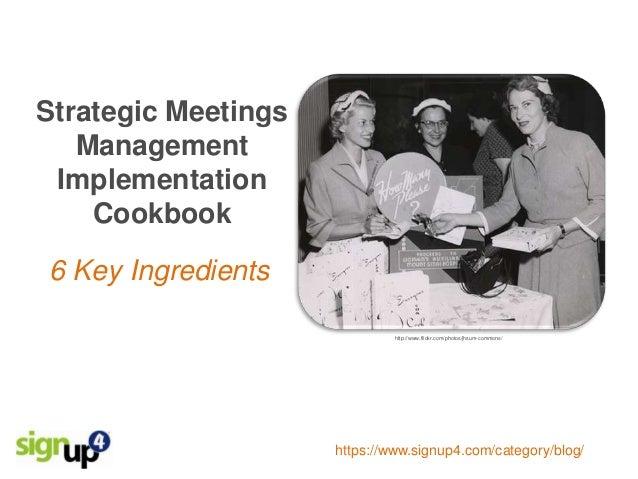 6 Key Strategic Meetings Management Implementation Steps