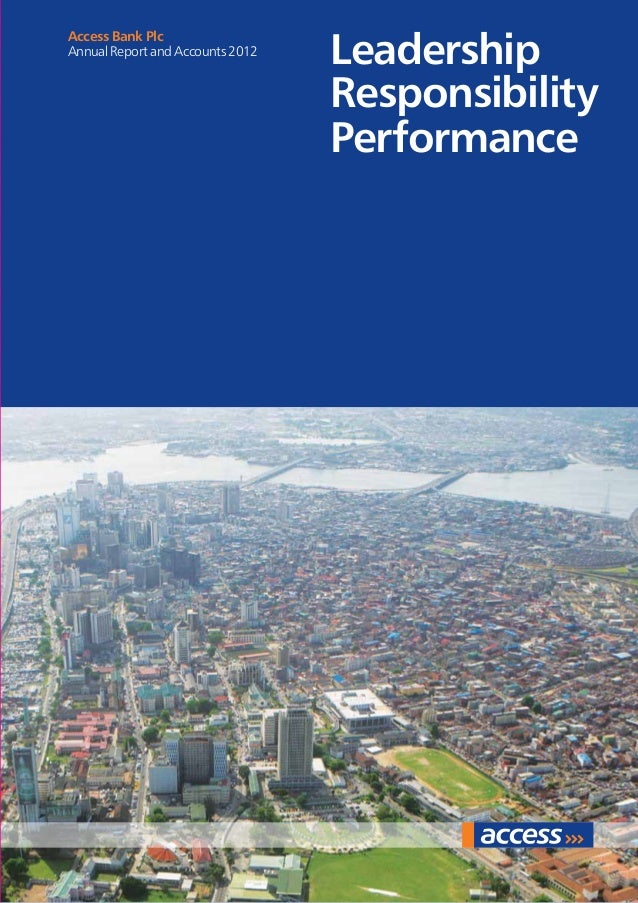 Leadership Responsibility Performance Access Bank Plc Annual Report and Accounts 2012