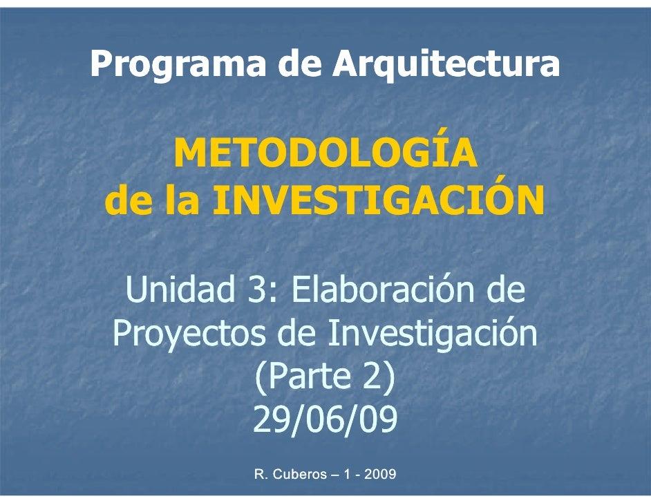 Metodología de la Investigación - Unidad 3b