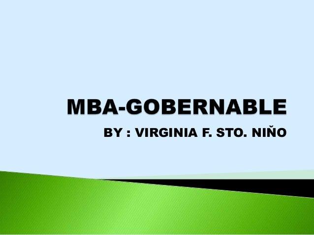 MBA - GOBERNABLE