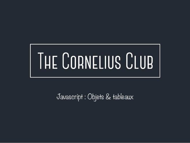 Javascript #6 : objets et tableaux