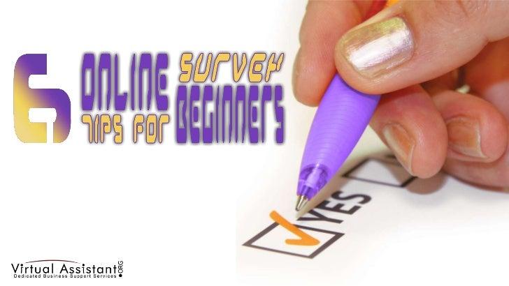 6 Online Survey Tips for Begginers
