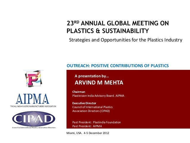 Strategies and Opportunities for the Plastics Industry                                               OUTREACH: POSITIVE CO...