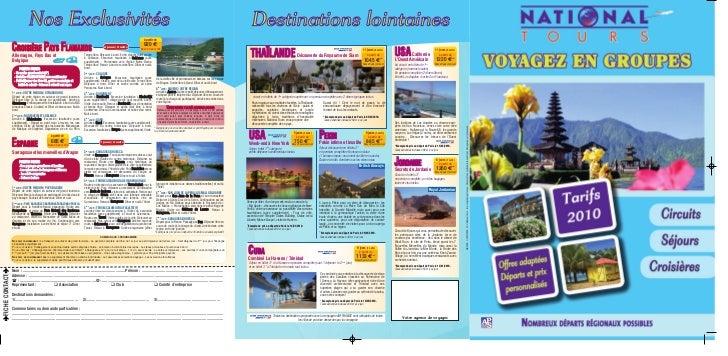 D U00e9pliant Sp U00e9cial Voyages Groupes