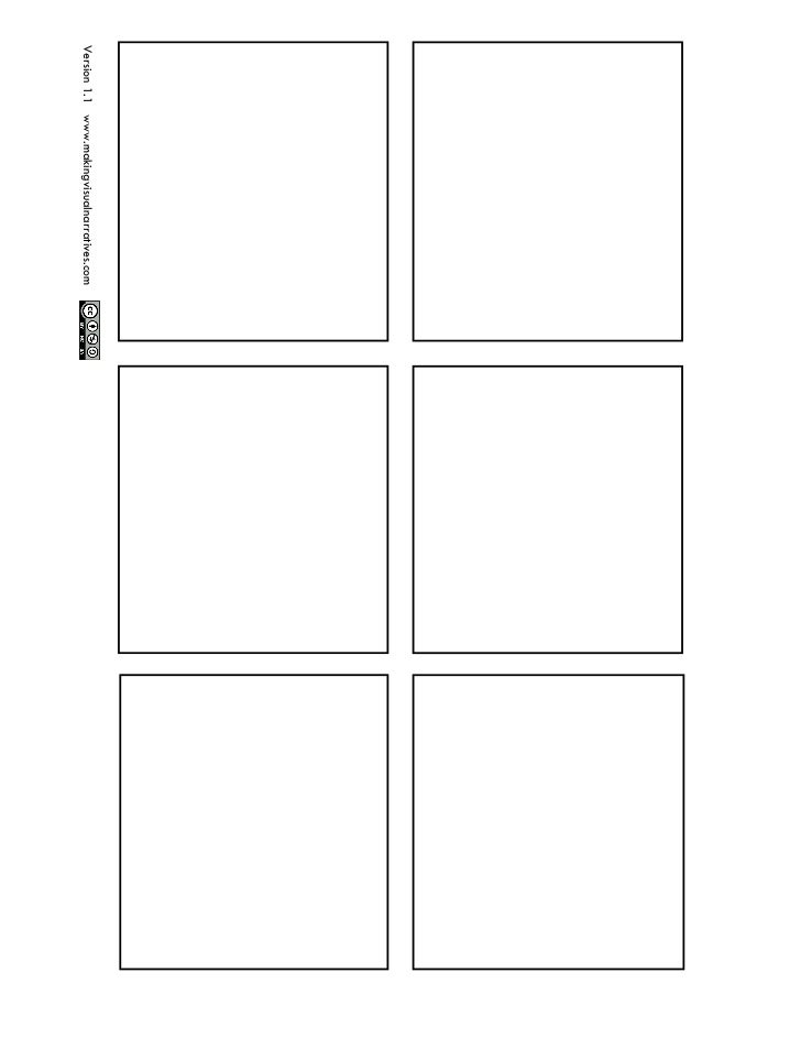 6 Box Storyboard Template Visualbrainsfo