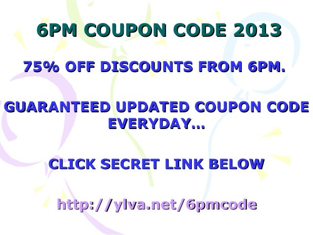 6 pm coupon code 2018