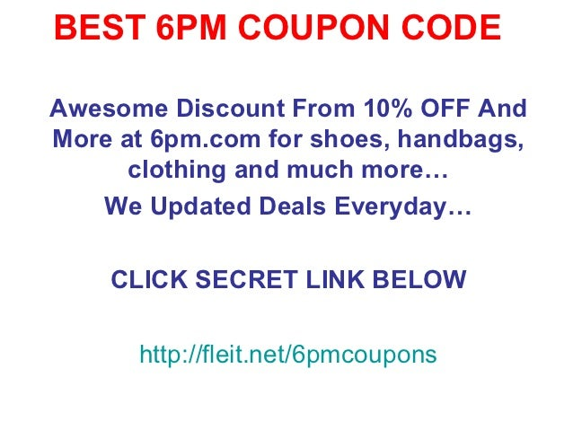 Coupon code 6pm