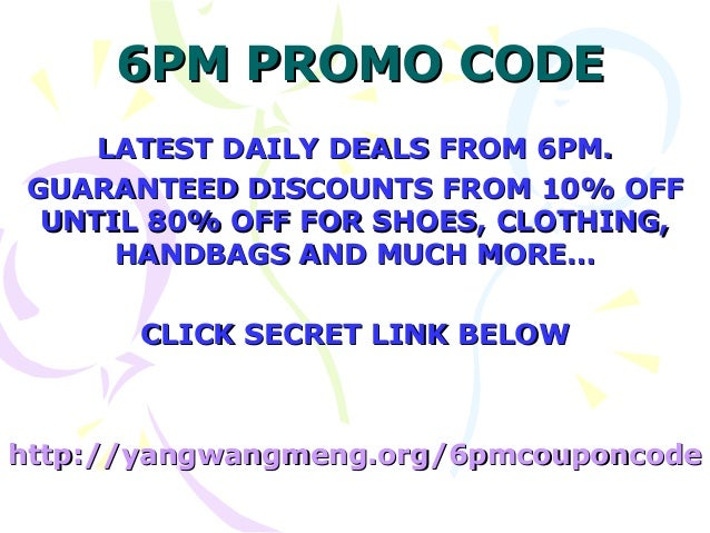 Coupon code for 6pm