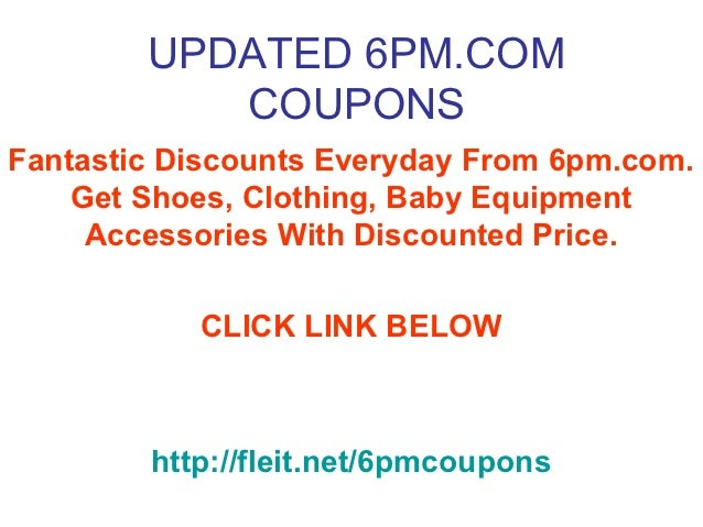 6pm discount coupons