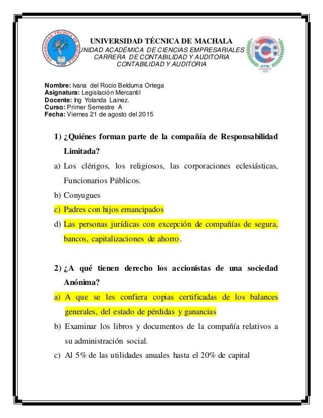 UNIVERSIDAD TÉCNICA DE MACHALA UNIDAD ACADÉMICA DE CIENCIAS EMPRESARIALES CARRERA DE CONTABILIDAD Y AUDITORIA CONTABILIDAD...