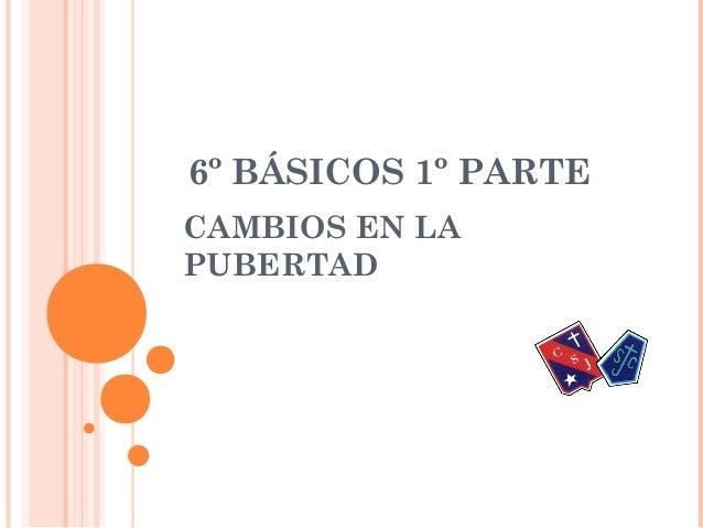 6º BÁSICOS 1º PARTECAMBIOS EN LAPUBERTAD