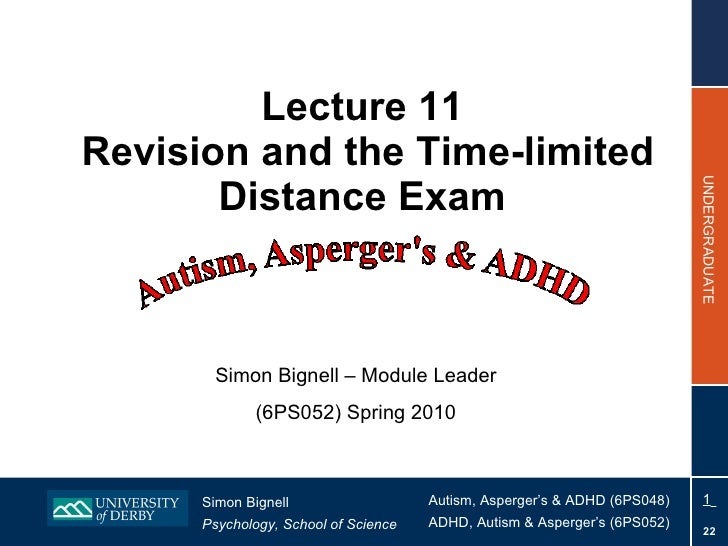 6PS048 Lecture 11 2010