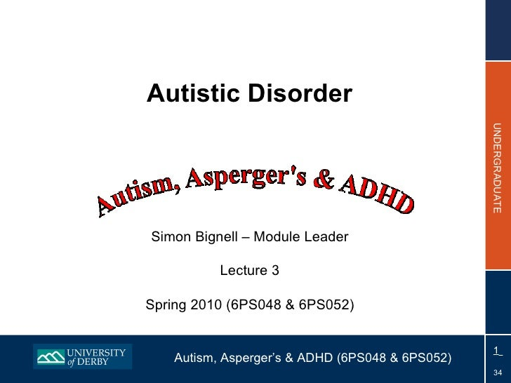 Topic 3 - Autistic Disorder 2010