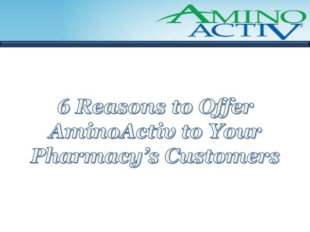 Reason #1        AminoActiv fills a LARGE, URGENT       need in the OTC pain reliever market• Over 75 million Americans ex...