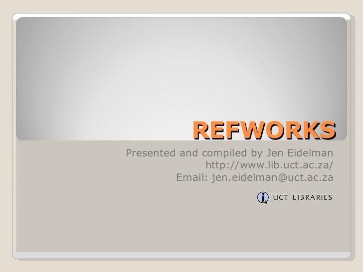 6 ref works search online databases in refworks
