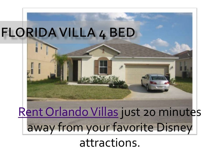Florida Villa 4 Bed<br />Rent Orlando Villas just 20 minutes away from your favorite Disney attractions.<br />