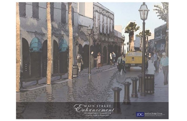 Artist Renderings of Proposed Main Street Enhancements by Jaredian Architects (9/12)
