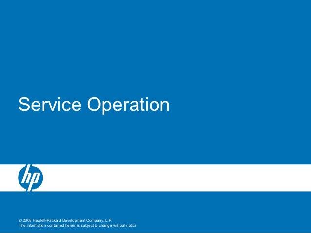6 service operation