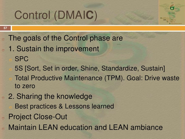 control phase dmaic