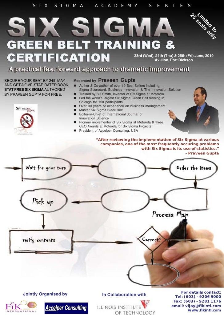 6 Sigma G Belt Certification   June 2010   Vijay