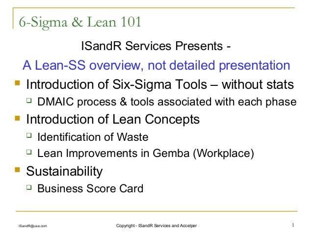 6-Sigma Lean 101