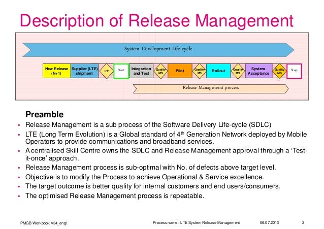 6 sigma lte release management process improvement for Software release management plan template