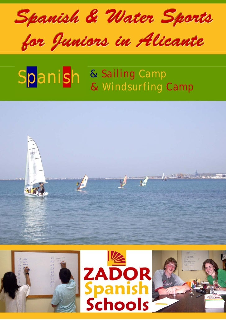 Watersports Camps in Spain for Juniors and teenagers in Alicante Summer 2009