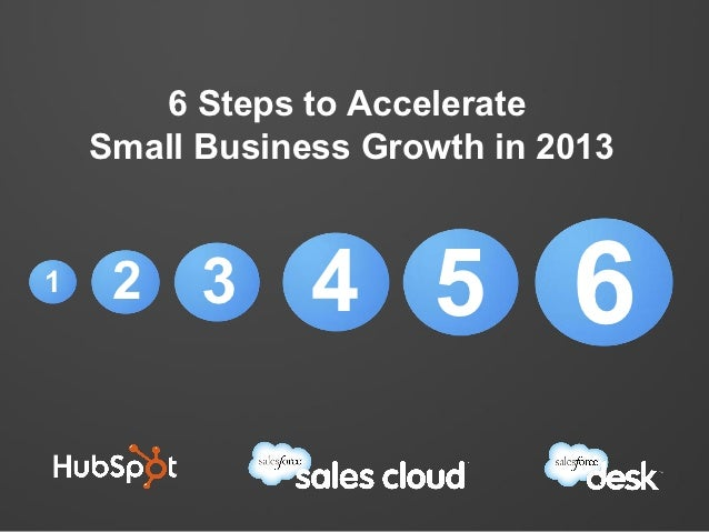 6 Steps to Accelerate    Small Business Growth in 20131    2    3     4 5           6
