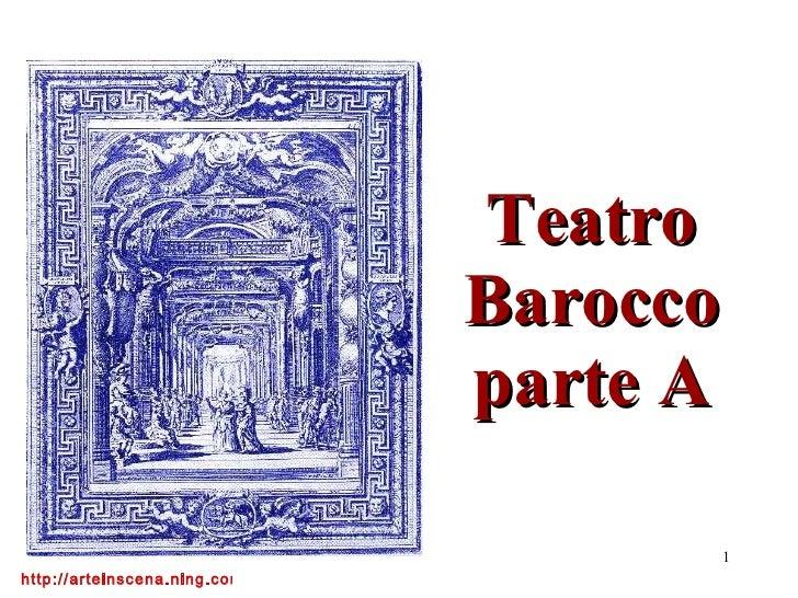Teatro Barocco parte A