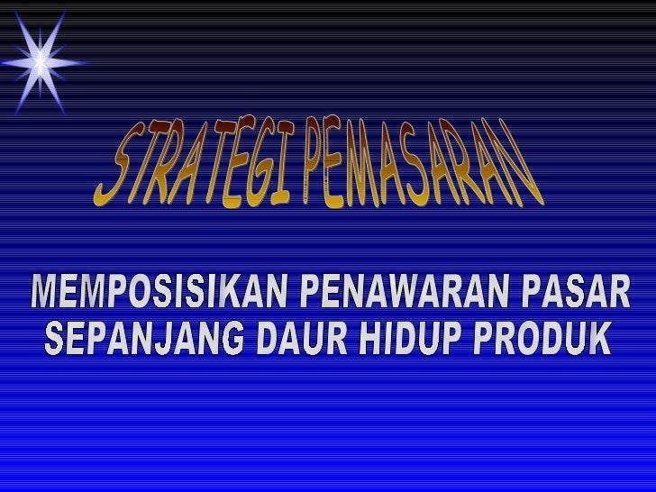 6 strategi pemasran