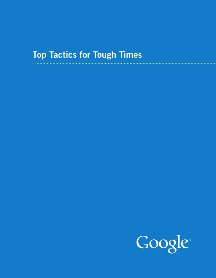 Top Tactics for Tough Times