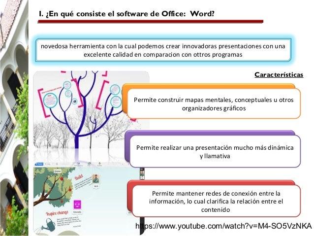 I. ¿En qué consiste el software de Office: Word?  novedosa herramienta con la cual podemos crear innovadoras presentacione...