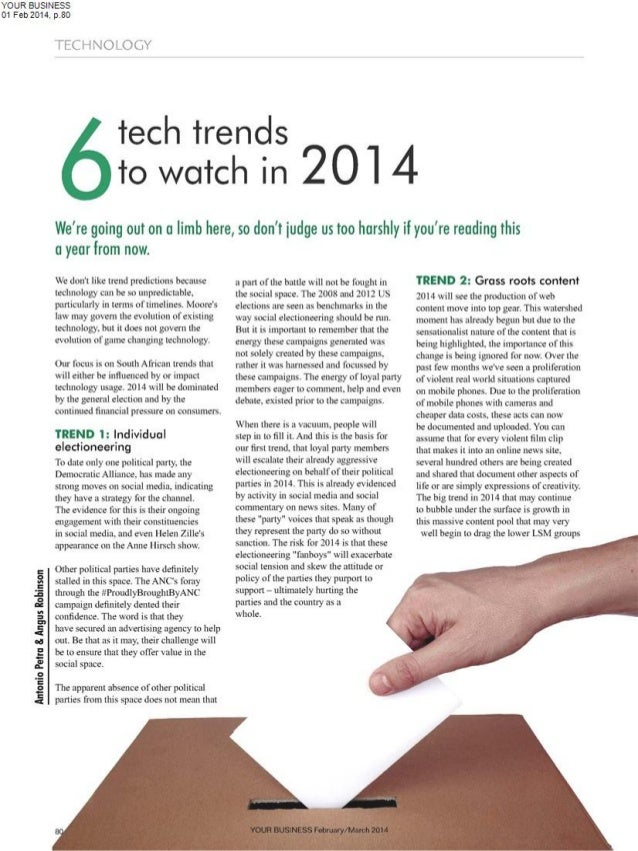 6 tech trends to watch in 2014