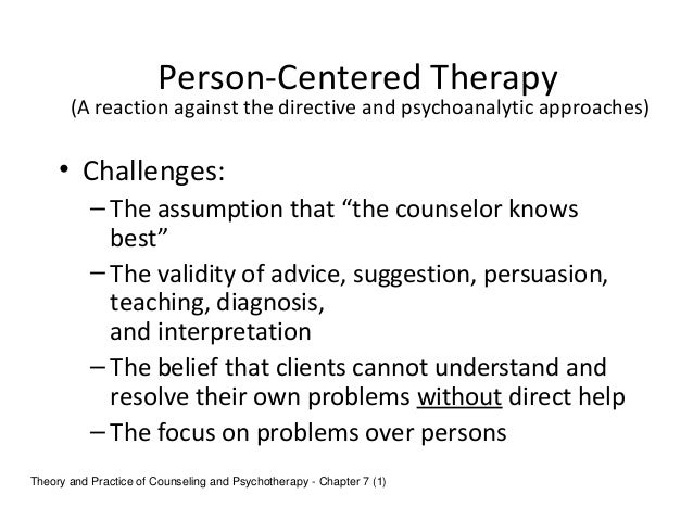 person centred approaches to counselling unit essay