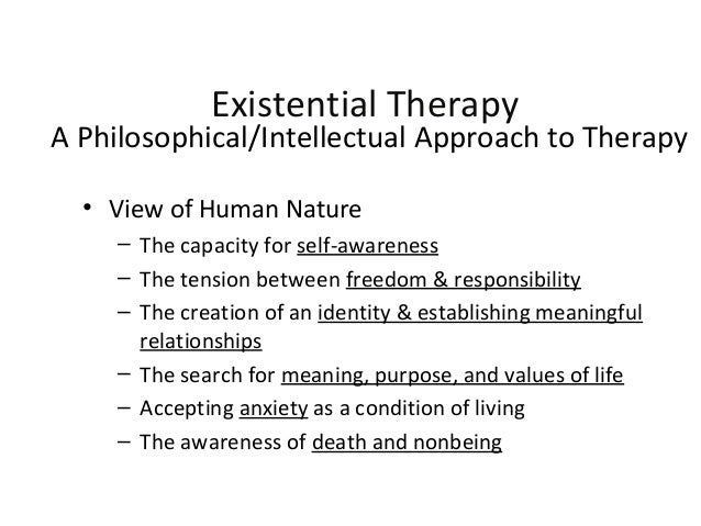humanistic existential perspective
