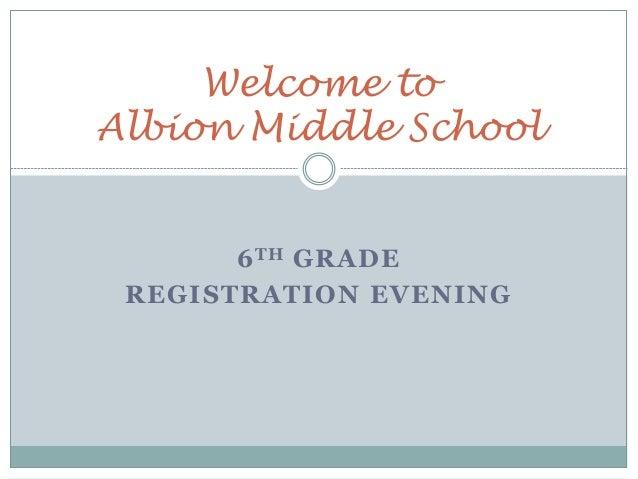 6th Grade Registration Presentation