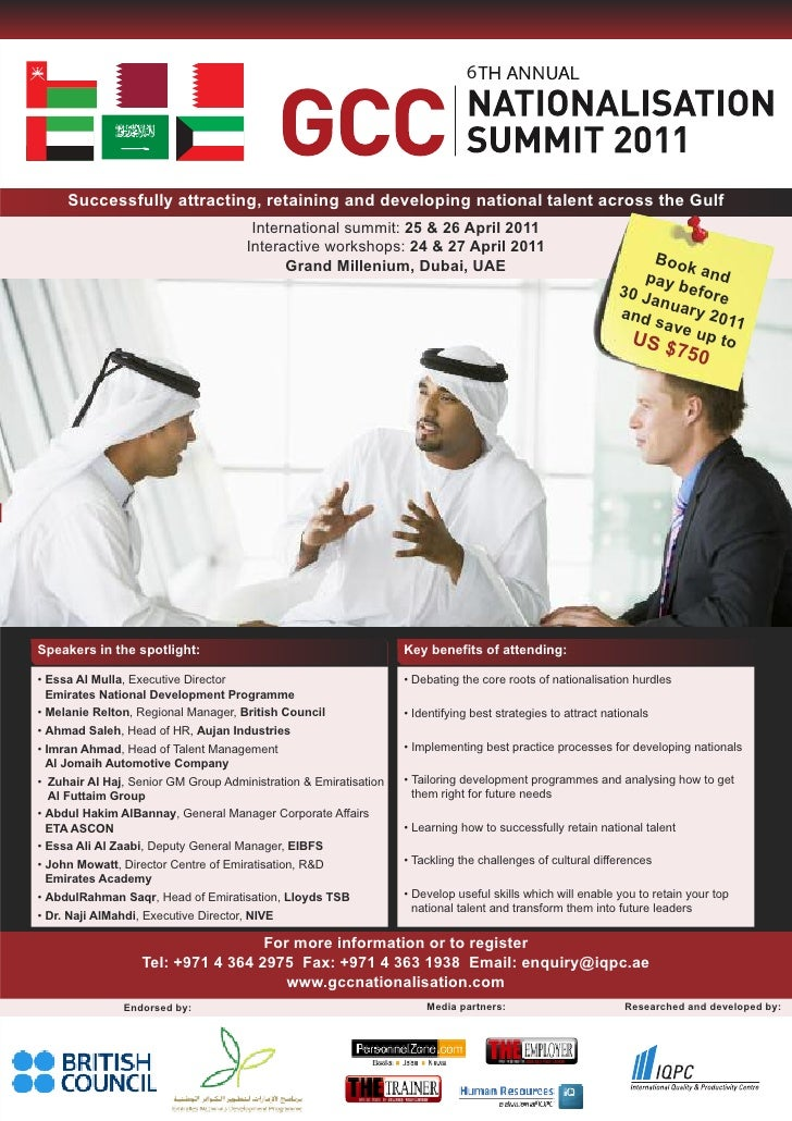 6          Successfully attracting, retaining and developing national talent across the Gulf                              ...