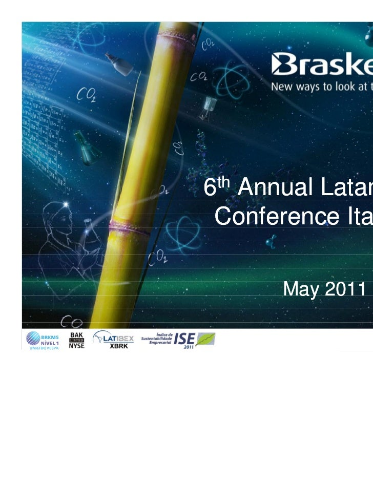 6th Annual Latam CEO Conference ItauBBA      May 2011