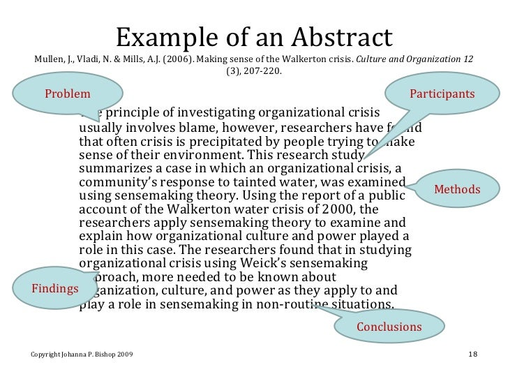 Apa 6th edition abstract