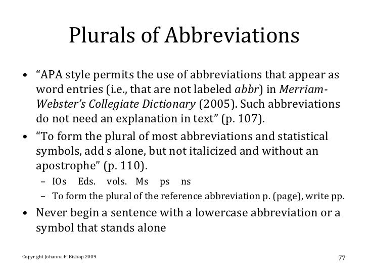 Use of abbreviations in essays