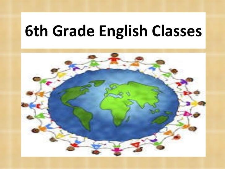 6th Grade English Classes
