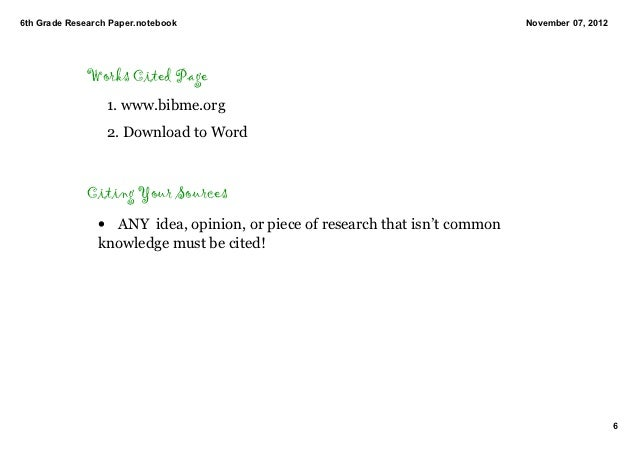 grade 6 research paper 'research report 5 & 6' is a free, printable writing worksheet designed to help 5th and 6th graders record their research findings and take up research projects.