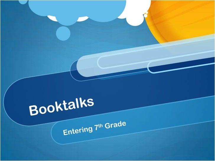6th grade schwab booktalk