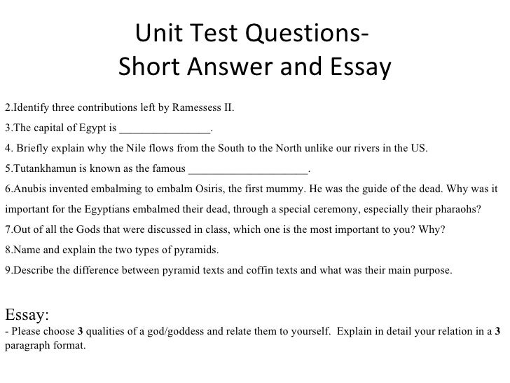 answer essay questions