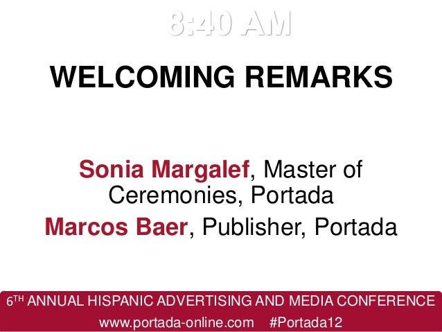 Latin American Advertising and Media Summit 2012 - Agenda