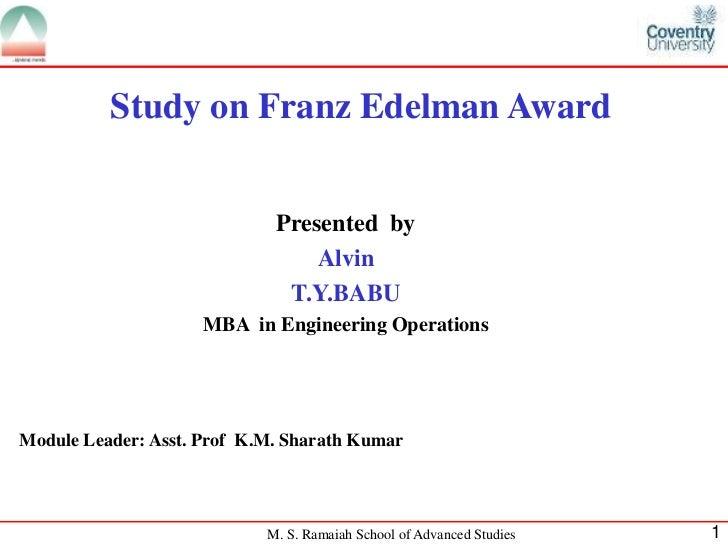 franz edelman award 2010
