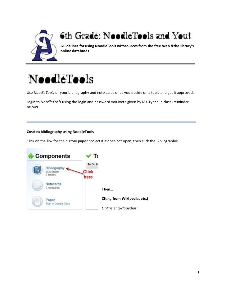 1054100647700013335010795000Guidelines for using NoodleTools with sources from the free Web & the library's online databas...