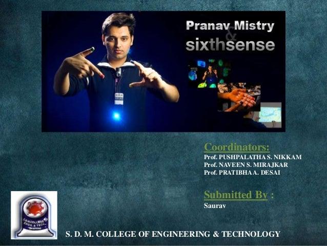 sixth sense technology seminar